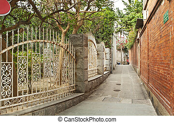 Old alley in Xiamen, China