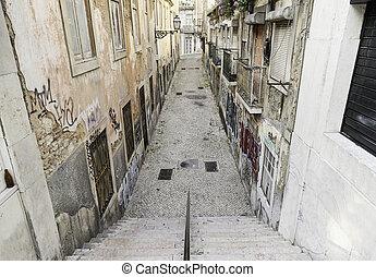 Old alley Lisbon