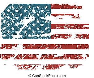 old American flag vector, stars, us, usa