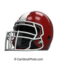 Old American Football Helmet
