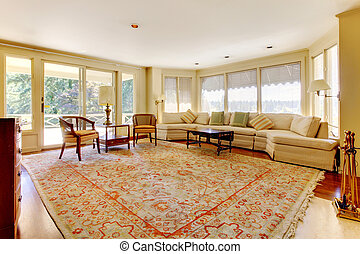 Old American House Large Living Room