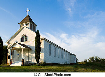 Old American pioneer country Church - Old American Country ...