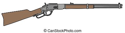 Old american rifle
