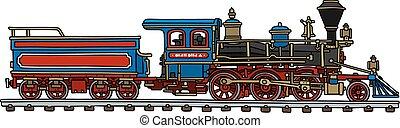 Old american steam locomotive
