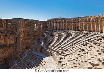 Old amphitheater Aspendos in Antalya