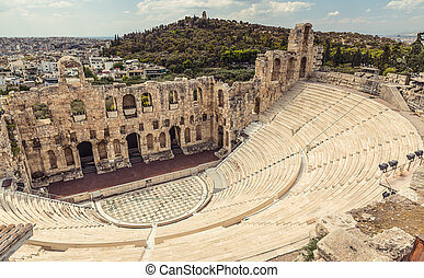 Amphitheater in Acropolis, Athens Greece
