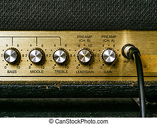 Old amplifier knobs