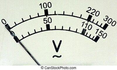 old analog voltmeter, FULL HD.