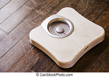 Old analog weight scale