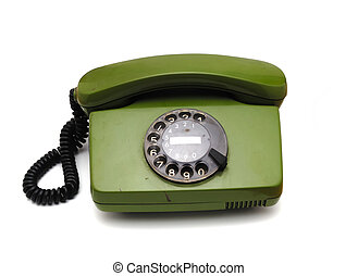 Old analogue disk phone