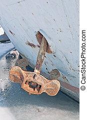 Old anchor closeup.