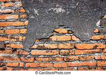 Old ancient brick wall background and texture for design decoration interior and exterior.