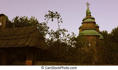 Old ancient orthodox church in a countryside.