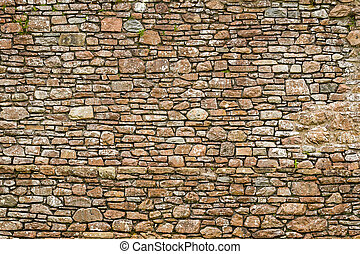 Old ancient wall made from stone