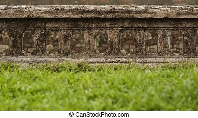 Old and ancient fence of the citadel in the city of the Hue,...
