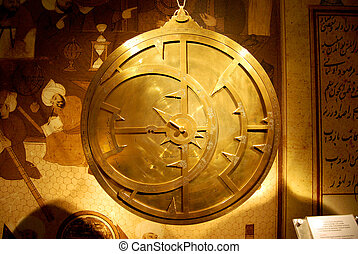 Old and bright astrolabe - Astrolabe was used to understand...