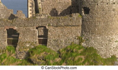 Old and classical castle in Ireland - A tilt up shot of a...