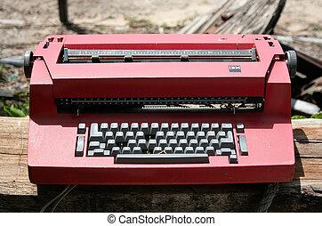 typewriter - Old and dusty typewriter