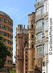 Old and Modern Buildings in Malaga