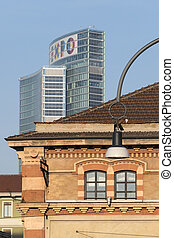 Old and modern buildings in Milan