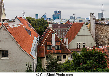 Old and modern buildings in Tallinn, Eston