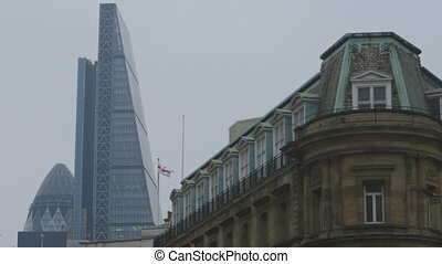 Old and Modern Buildings - Steady, low angle, medium wide...