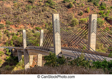 old and new bridge across Blue Nile, Ethiopia