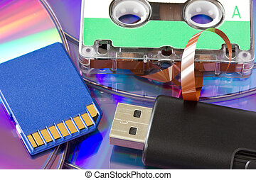 old and new media storage