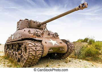 sherman tank - old and rusty sherman tank from ww2