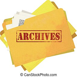 Archives Folder Isolated - Old and Stained Archives Folder ...