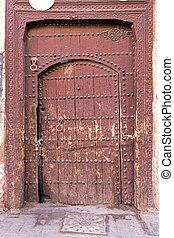 Old and weathered door, Morocco