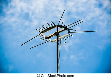 Old antenna for television - Old antenna for television....