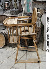 old antique baby chair