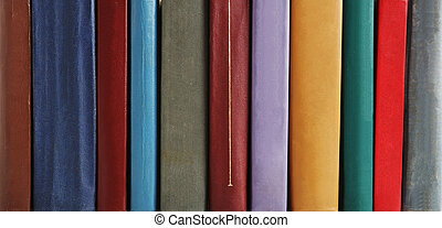 Old antique books background