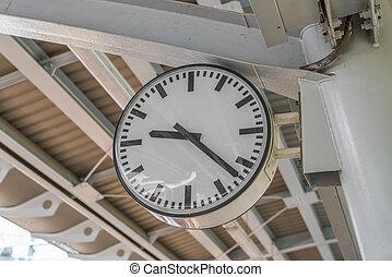 Old antique clock .