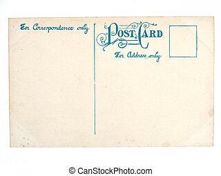 Old antique empty postcard - Vintage postcard. Collectible...