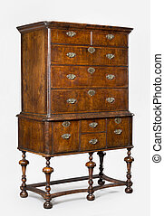 old antique European dresser or chest of drawers - old...