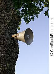 Old antique loudspeaker