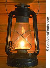 old antique oil lantern
