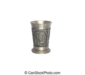 Old antique small pewter germany wine cup