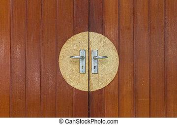 old antique wood door.