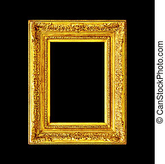 Old antique wooden frame