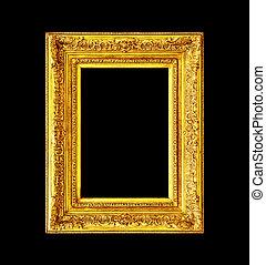 Old antique wooden frame