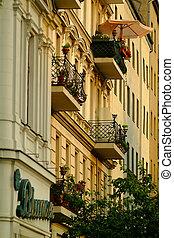 old apartment buildings in Berlin Kreuzberg, built about 100...