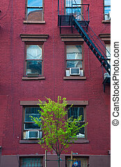 Old apartment buildings