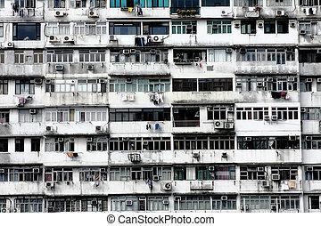 Old apartments in Hong Kong.