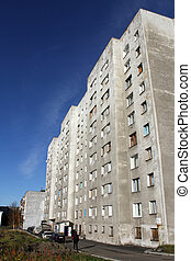 Old apartments - Old apartment building in Murmansk, Russia