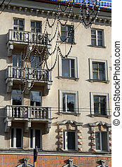 Old apartments - Old apartment building on the main street...