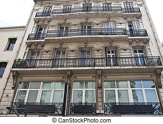 Old Apartments with Iron Balconies