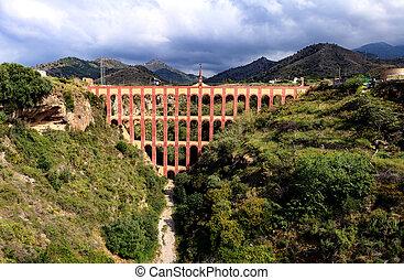 Old aqueduct in Spain